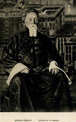 Nicholas Roerich. Portrait by Sv. Roerich.